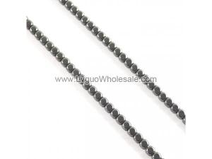 Non magnetic Hematite Beads, Cube, black,Hole:Approx 1mm, Length:Approx 15.7 Inch,Sold By Strand