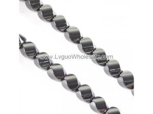 Non magnetic Hematite Beads, Twist,different size for choice & Customized,Hole:Approx 1mm, Length:Approx 15.7 Inch, Sold By Strand