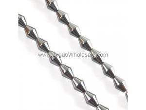 Non magnetic Hematite Beads, Bicone, different size for choice, black, Hole:Approx 1mm, Length:16 Inch, Sold By Strand