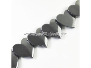 Non magnetic Hematite Beads, Heart, different size for choice & Customized, Hole:Approx 1.5mm, Length:Approx 15.7 Inch, Sold By Strand
