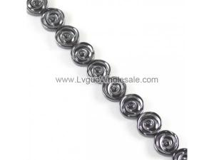 Non magnetic Hematite Beads, Rose, 12x4mm, Hole:Approx 2mm, Length:Approx 15.7 Inch, Approx 33PCs/Strand, Sold By Strand