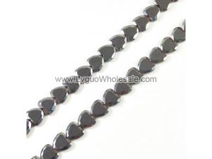 Non magnetic Hematite Beads, Heart, Faceted, 10mm, 40pcs/strand, Hole:Approx 1.5mm, Length:Approx 15.7 Inch, Sold By Strand