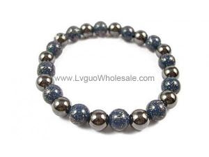 Hematite Stone Beaded Stretch Bracelet