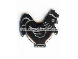 Hematite Charms Rooster