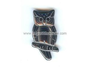 Hematite Charms Owl on the Branch