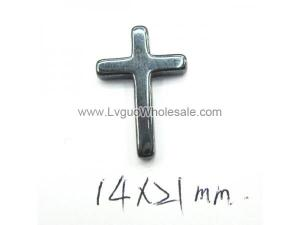 Hematite Cross Charms 14x21mm