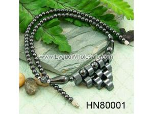 Wholesale Top Quality Handmade 10 Teeth Black Hematite Necklace 18""