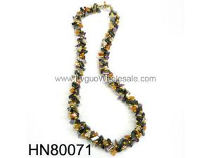 Gold Style Semi-precious Stone Chip Stone Beads Hematite Necklace