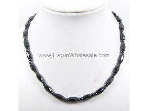 Mens Magnetic Hematite 5X8mm Faceted Beads Strands Necklace
