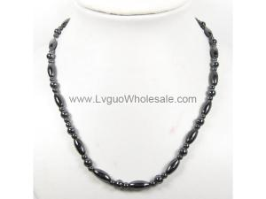 Mens Magnetic Hematite 6x12mm Oval Beads Strands Necklace