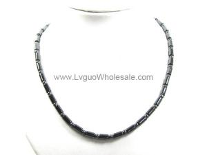 Mens Magnetic Hematite Tube Beads Strands Necklace