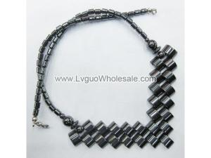 Hematite Beads Paved Style Strands Necklace