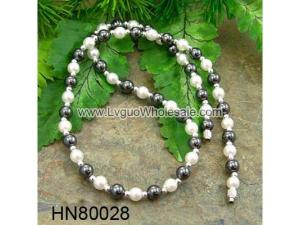 Freshwater Pearl Beads Hematite Beads Stone Chain Choker Fashion Women Necklace