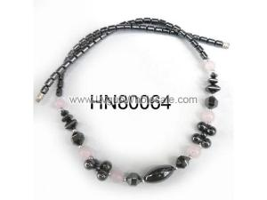 Assorted Colored Semi precious Chip Stone Beads Hematite Beads Stone Chain Choker Fashion Women Necklace