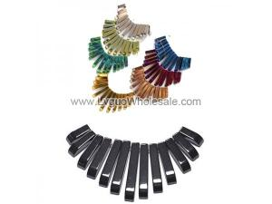 Hematite Graduated Fan 13pc Pendant Assorted Color