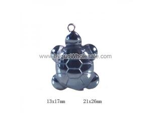 Hematite Turtle Pendant Assorted Size