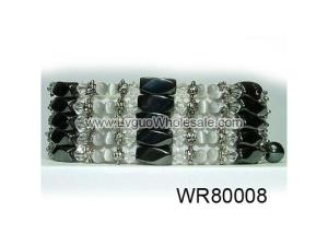 36inch Clear Crystal ,Alloy,Magnetic Wrap Bracelet Necklace All in One Set