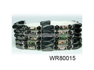 36inch Black Cloisonne ,Crytal,Magnetic Wrap Bracelet Necklace All in One Set