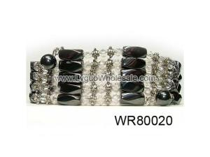 36inch Clear Crystal, Alloy,Magnetic Wrap Bracelet Necklace All in One Set