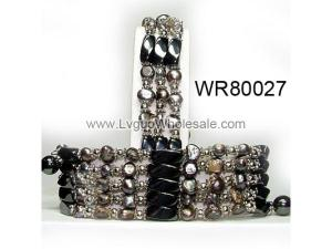 36inch Black Pearl ,Magnetic Wrap Bracelet Necklace All in One Set