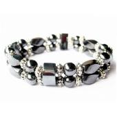 18cm Stone Beaded Hematite Stretch Bracelet