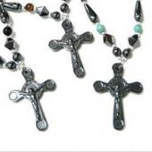 Hematite Celtic Cross Pendant  27x38mm