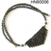 13 Ribs Hematite Gemstone Beads Necklace