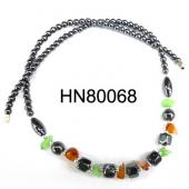 Semi-precious Stone Chip With Hematite Stone Beads Necklace