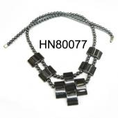 2014 New Vintage Necklace , 18inch Black Hematite Drop Shape Beads Necklace