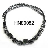 Black Stone Beads Hematite Jewelry Necklace
