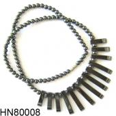 Hematite 13bars Pendant Stone Necklace
