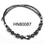 Barbell Shape Beads Semi preicous Hematite Necklace