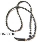 Horn Shape Hematite Beads Strands Necklace 18inch