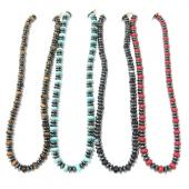 Assorted Colored Semi-precious Stone Hematite Beads Strands Necklace