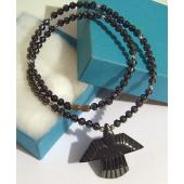 Hematite Phoenix Pendant Chain Choker Fashion Necklace
