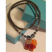 Agate Elephant Pendant Chain Choker Fashion Necklace