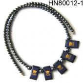 Hematite Choker Chunky bib Statement Necklace women Fashion Jewelry