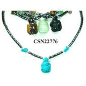 Semi preicous Stone Turtle Pendant Beads Chain Choker Fashion Women Necklace