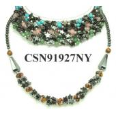 Semi precious Chip Beads Hematite Beads Stone Chain Choker Fashion Women Necklace