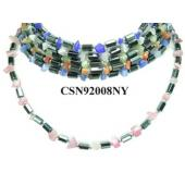 Assorted Colored Opal Beads Hematite Stone Chain Choker Fashion Women Necklace