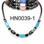 Colored Opal Beads Hematite Beads Stone Chain Choker Fashion Women Necklace