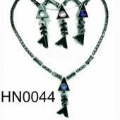 Colored Opal Beads Hematite Fish Pendant Beads Stone Chain Choker Fashion Women Necklace