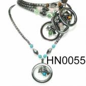 Assorted Colored Semi precious Stone Beads Hematite Dolphin Pendant Beads Stone Chain Choker Fashion Women Necklace