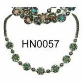 Assorted Colored Semi precious Stone Beads Hematite Donut Beads Stone Chain Choker Fashion Women Necklace