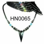 Colored Opal Beads Hematite Arrow Pendant Beads Stone Chain Choker Fashion Women Necklace