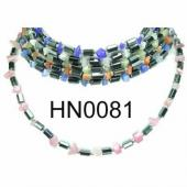 Assorted Colored Opal Beads Hematite Beads Stone Chain Choker Fashion Women Necklace