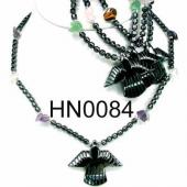 Assorted Colored Semi precious Chip Stone Beads Hematite Bird Beads Stone Chain Choker Fashion Women Necklace