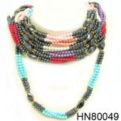 Hematite Beads Stone Chain Choker Fashion Women Necklace