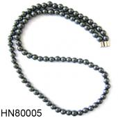 Hematite Round Beads Stone Chain Choker Fashion Women Necklace