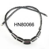 Hematite Teeths Pendants Beads Stone Chain Statement Bib Choker Fashion Necklace